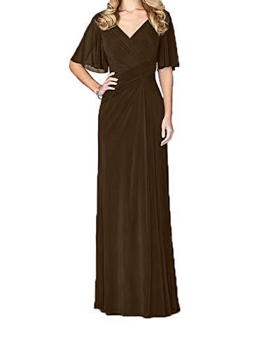 Lang Jungendweihe Brautmutterkleider V Damen Kleider Braun Abendkleider Festlichkleider Elegant Charmant Ausschnitt Bzx6Hq
