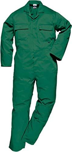 - Portwest S999BGRL Euro Work Boilersuit, Fabric, Large, Bottle Green