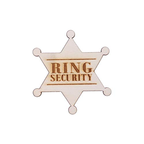 LUOEM Ring Security Badge Breastpin for Wedding Rustic Wooden Ring Bearer Gift for Boys Wedding Accessories Wedding Favors]()