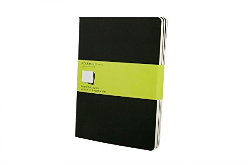 Journals 3 Plain Cahier - Pack of 5 Moleskine Cahier Journal (Set of 3), Pocket, Plain, Black, Soft Cover (3.5 x 5.5)