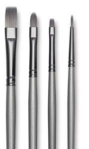 Robert Simmons Titanium Brushes Short Handle Single Stock 14 flat shader TT60
