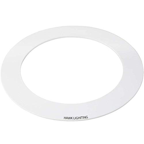 10 Pack White Goof Ring Trim Ring for Recessed Can and 6'' Inch Down Light Ove... by HARRRRD