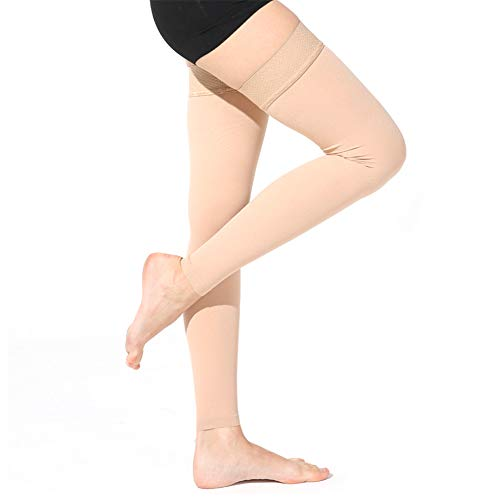 Aaister Medical Footless Thigh High Compression Sleeves, GraduatedSupport 20-30 mmHg Firm Stockings for Women & Men, Treatment Swelling, Relief Varicose Leg Veins, Pregnancy, Flight