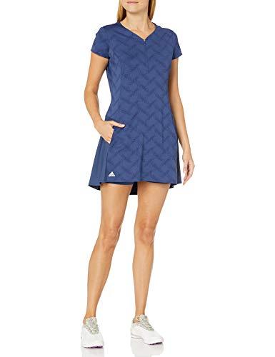 adidas Golf Jacquard Dress, Tech Indigo, Large
