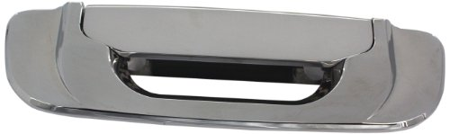 All Sales 403 Polished Billet Aluminum Tailgate Handle Assembly (Brushed Chrome Tailgate Handle)