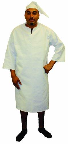 Alexanders Costumes Night Shirt with Cap, White, Medium