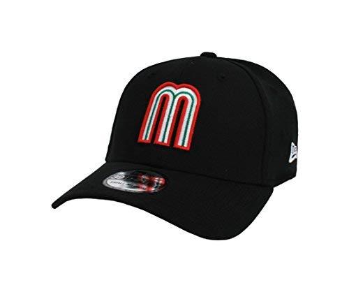 (NEW ERA 39Thirty Hat World Baseball Classic Mexico Black flex fit cap (Medium/Large))