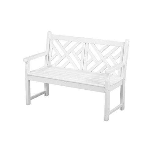 Chippendale Garden Bench - POLYWOOD CDB48WH Chippendale 48