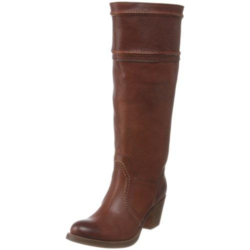 FRYE Women's Jane 14L Boot: Extended, Redwood Pebbled Full Grain , 7.5 M US ()