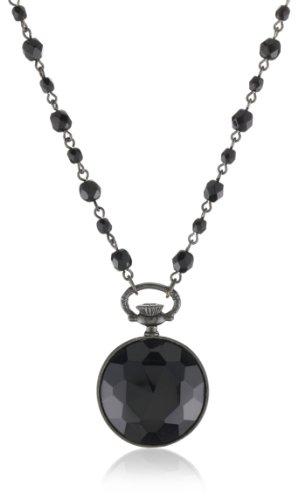 1928 Jewelry Bonne Nuit Perfume Flask Pendant Necklace