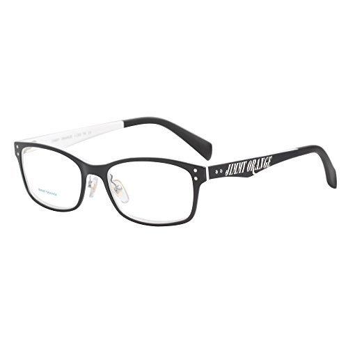 4b370673a041 Amazon.com: Jimmy Orange Brand Designer Full Frame TR Fashion Reading  Glasses Men Readers Eyeglasses Women High Quality Glasses L8808 (black  frame white leg ...