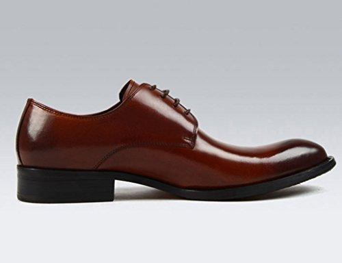 Herren Lederschuhe Herren Lederschuhe britischen Stil wies atmungsaktiv Business Formale tragen einzelne Schuhe Herrenschuhe ( Farbe : Schwarz , größe : EU42/UK7.5 ) Red-brown