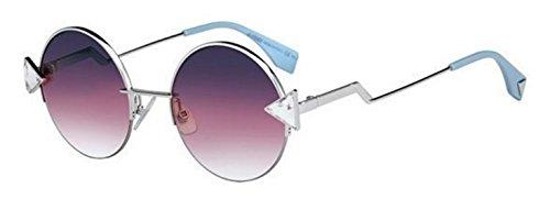 New Fendi RAINBOW FF 0243/S TJV/FF silver crystal/violet shaded Sunglasses
