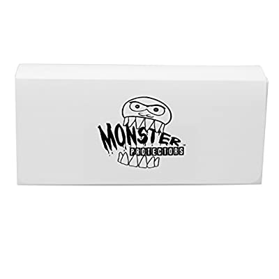 Monster Protectors Trading Card Triple Deck Box, White, Self-Locking Magnetic Closure - Fits Yugioh, Pokemon, Magic the Gathering Cards: Toys & Games