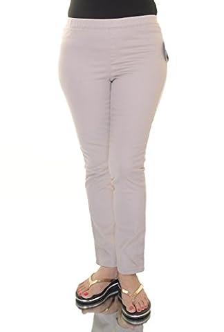 Karen Scott Women's Straight-Leg Twill Pull-On Pants (Petite/Medium, Stonewall) (Petite Office Pants)