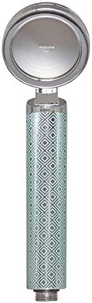 Vitaclean HQ - Cabezal de ducha de mano con filtro de vitamina C y aceite esencial con filtro de cítricos que crea aromaterapia, pelo instantáneo suave y piel lisa 6,3 x 8 x 27,8 cm, azul