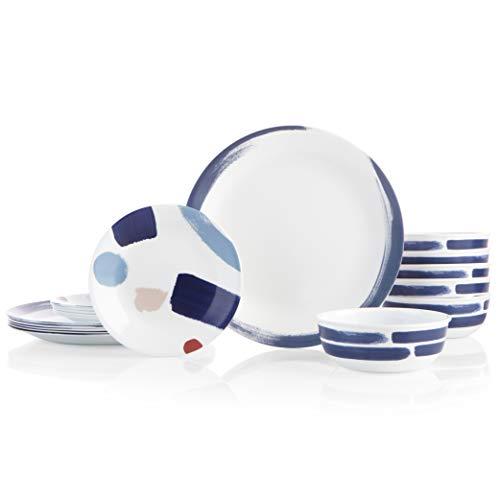 Corelle 18-Piece Service for 6, Chip Resistant Dinnerware Set, Vivid Splash (Resistant Dinnerware Set)