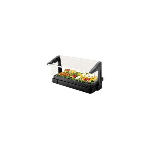 Cambro Black 3-Pan 4' Tabletop Buffet Bar w/Sneeze (Tabletop Food Bar 3 Pan)
