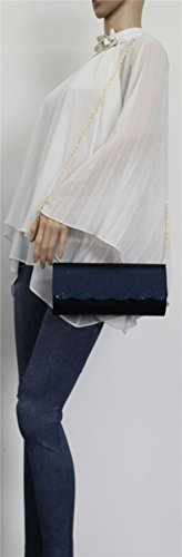 SwankySwans Navy Meghan Womens Clutch Satin Blue Wedding PzrPwnXqZ
