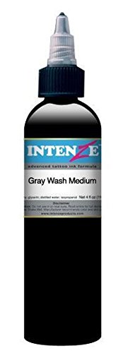 Intenze Tattoo Ink - Gray Wash Medium - 1oz Bottle - Intenze Light