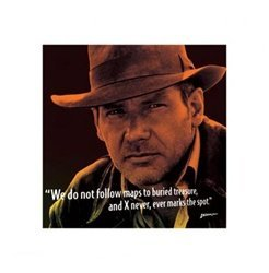 Harrison Ford Indiana Jones Movie Quote Poster 16 X 16 Inches