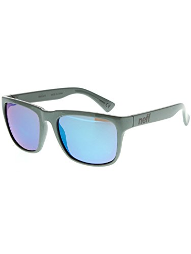 Neff Chip Shades Grey with Bronze Blue Mirror Lens Daily - Neff Chip Sunglasses
