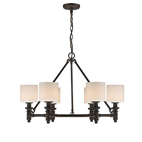 Golden Lighting 2116-6 RBZ-OP Six Light Chandelier Bronze