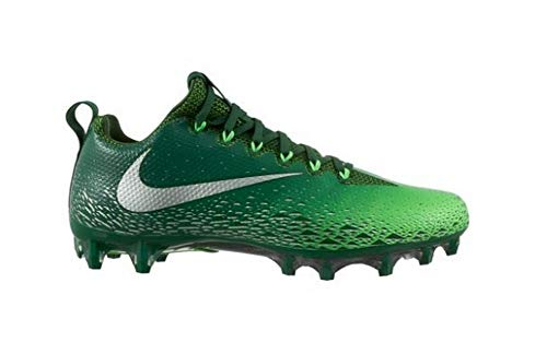 7db7ee9a9 Nike Men's Vapor Untouchable Pro Football Cleats Green/Metallic Silver Size  15