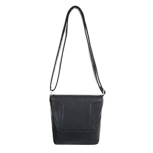 Taschen Umhängetasche In Used Schwarz