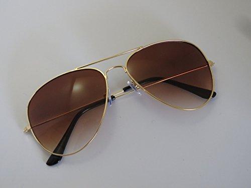 Ouniman Unisex Aviator Polarized Sunglasse,Black Metal Frame Sun Glasses 100% UV400 Protection Classic Designer Style for Women Men Driving Fishing Cycling Baseball Sports Activity (Dark Brown) ()