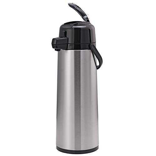 Service Ideas ECAL30S Eco-Air Airpot with Lever, Glass Lined, 3.0 L