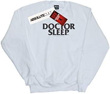 Absolute Cult Doctor Sleep Herren Text Logo Sweatshirt Weiß XXXXX-Large