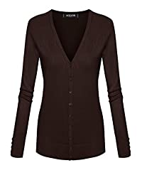 ACEVOG Women Classic Cardigan Long Sleeve V-Neck Button Down Knitwear Top Sweater