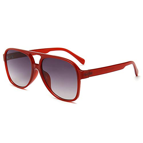 CHAUOO Classic Aviator Sunglasses | 100% UV Protection (Red)