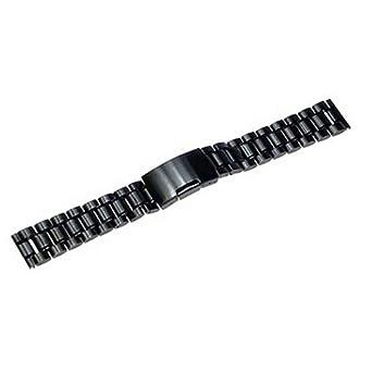 Bestow Correa de Acero Inoxidable Negro Pulseras de Reloj Pulsera de Acero Inoxidable de 18 mm Banda de Reloj(A): Amazon.es: Ropa y accesorios