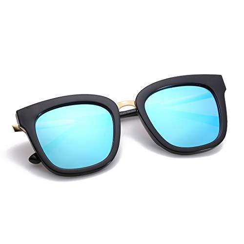 Blue Super Sunglasses Lightweight Soleil Frame pour Black Aluminum de Ladies Soleil Lens Lunettes Sakuldes Lunettes Black Blue Frame de Polarized Hommes Lens Color Large BFWqz