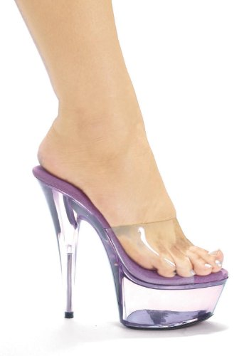 Ellie Chaussures Femmes 609-été 6 Pointu Stiletto Plate-forme Mule Violet