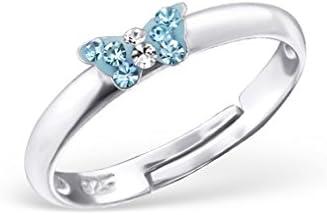 Liara Kinder Schmetterling Ring 925 Sterling Silber. Poliert und Nickelfrei