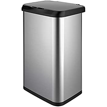 13.2-Gallon 248 NEW Infrared Touchless Stainless Steel Trash Can