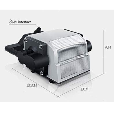LIFUREN Fish Tank Oxygen Pump Very Silent High Power Small Oxygen Pump Super Atmosphere Fast Heat Dissipation (Color : Black, Size : 16W+6)