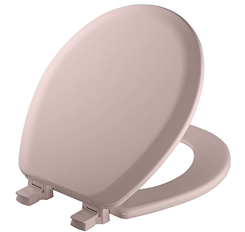 - MAYFAIR Toilet Seat will Never Loosen and Easily Remove, ROUND, Durable Enameled Wood, Pink, 41EC 023