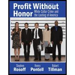Profit Without Honor, Rosoff, Stephen M. and Pontell, Henry N., 013515443X