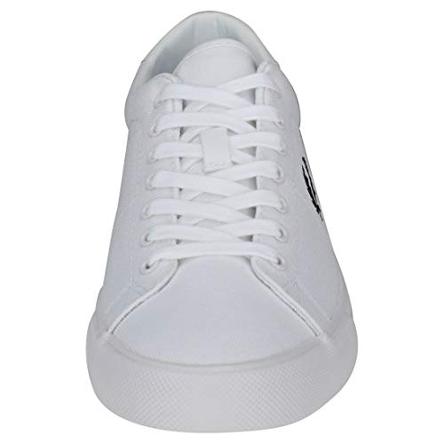 Perry Fred Sneaker Twill White Bianco Black Nero Uomo Underspin d4RRcCy
