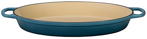 - Le Creuset Enamel Cast Iron Signature Oval Baker, 3 quart, Marine