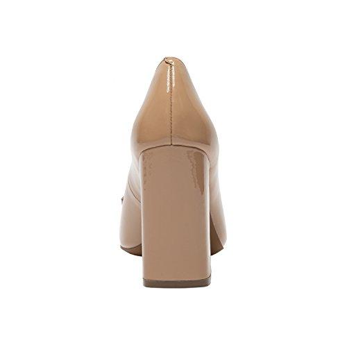 Cameo | Kvinna Mandel Tå Blocket Häl Lackläder Öre Loafer (ny Vår) Blush Patent