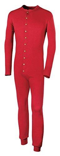 Duofold by Champion Originals Wool-Blend Men's Union Suit, Red, Medium by Duofold by Champion