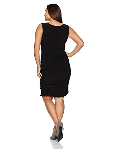 Sleeveless Peekaboo Rouched Bodycon Dress