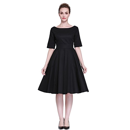 Heroecol Vintage 1950s 50s Dress Style Retro Rockabiily Cocktail XS BK