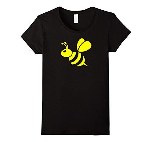 Womens Yellow Honeybee T-shirt Medium Black (Bumble Bee T Shirt)