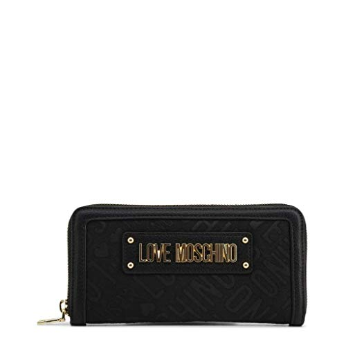 Love Moschino Logo Jacquard Monedero negro: Amazon.es: Ropa ...